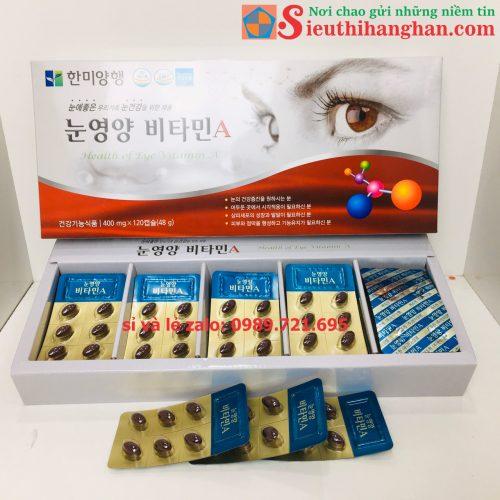 Các vỉ bên trọng hộp thuốc bổ mắt health of eye vitamin a hàn quốc