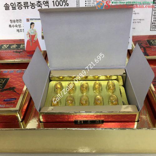 Tinh Dầu Thông Đỏ Cheongsongwon Hộp Đỏ Chính Phủ Cao Cấp Hàn Quốc - Dành cho người máu nhiễm mỡ, gan nhiễm mỡ11