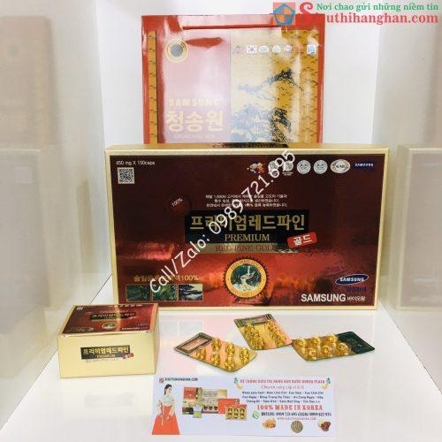 Tinh Dầu Thông Đỏ Red Pine Gold Samsung Premium Hàn Quốc Cao Cấp - Trị mỡ máu, phòng chống ung thư