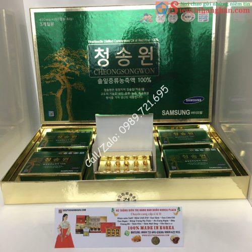 Tinh Dầu Thông Đỏ Samsung 180 Viên Hộp Xanh Chính Phủ Hàn Quốc19