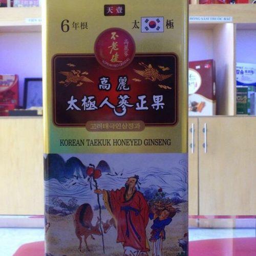Korean Taekuk Honeyed Ginseng Daedong Thái Cực Tẩm Mật Ong Thượng Hạng hộp 300 Gram